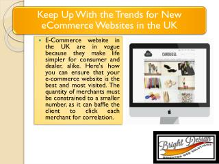 Keep Up With the Trends for New eCommerce Websites in the UK