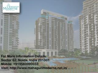 Mahagun Moderne 2/3/4 fully Furnished Homes at Noida Call us   91 9560090033