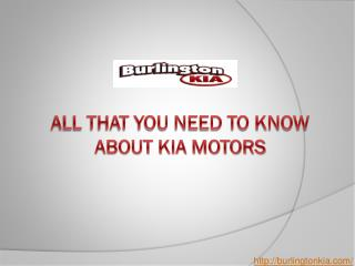 All That You Need To Know About Kia Motors