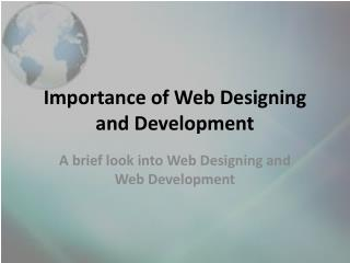 Importance of Web Design and Development
