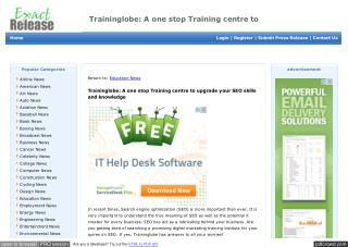 Traininglobe: A one stop Training centre to upgrade your SEO skills and knowledge