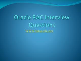 Oracle RAC Interview Questions