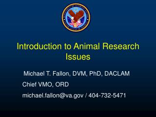 Introduction to Animal Research Issues
