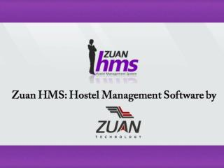 Zuan Technology : Zuan HMS Hostel Management Web Application Product Review