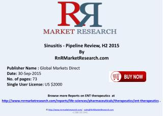 Sinusitis Pipeline Review H2 2015