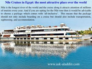 Nile Cruises in Egypt: the most attractive place over the world