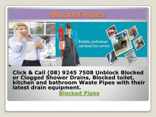 Blocked pipes