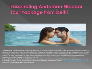Andaman Nicobar Fascinating Tour Packages from Delhi
