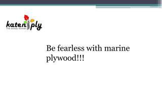 Be fearless with marine plywood!!!