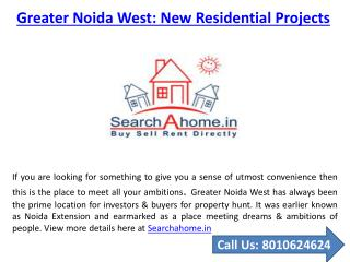 New Residential Projects in Greater Noida West