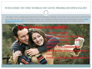 Love Problem Specialist Astrologers Gives Love Problem Solution