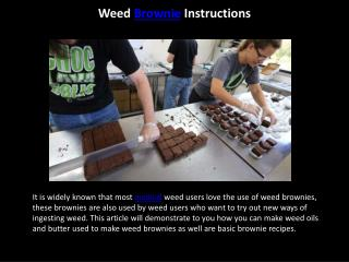 Weed Brownie Instructions