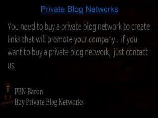 Build Private Blog Network With PBN Baron
