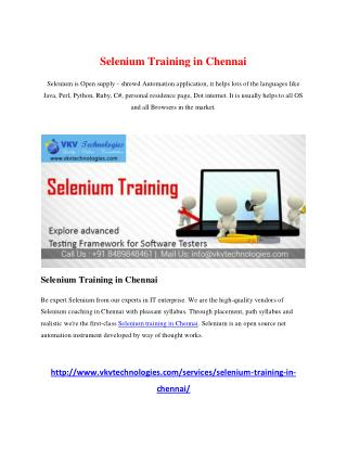 Informatica Training in Chennai