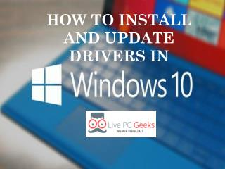 How To Install and Update Drivers in Windows 10