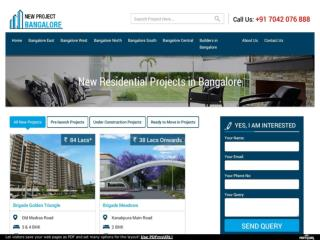 New Projects in Bangalore – Pre Launch Projects Bangalore