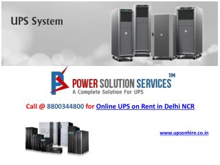Low cost online UPS on Rent in Delhi NCR