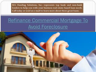 Commercial Mortgage Refinance Poor Credit