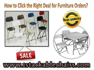 How to Click The Right Deal for Furniture Orders?
