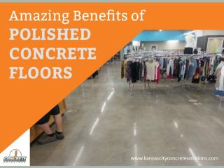 Why to Choose Polished Concrete Floors - Amazing Benefits!