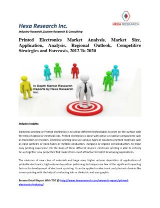 Printed Electronics Market Analysis, Market Size, Application, Analysis, Regional Outlook, Competitive Strategies and Fo