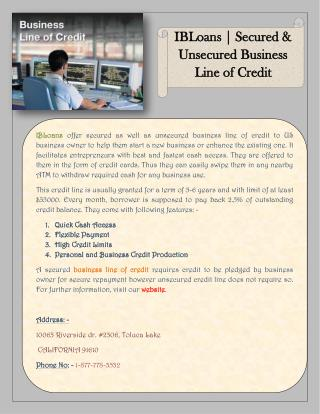 Online Small Business Loans