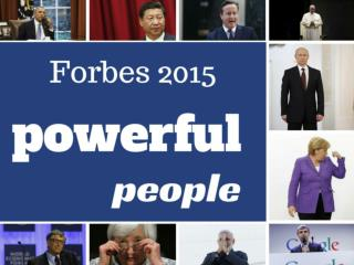 World's most powerful people