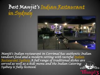 Best manjit's indian restaurant in sydney