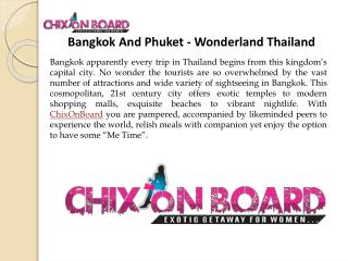 Women Only Tours Bangkok , Exclusive Women Tour , Chixonboard