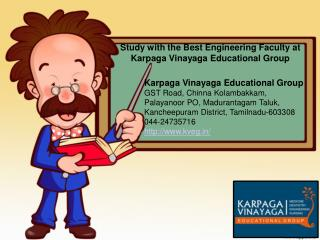 Study with the Best Engineering Faculty at Karpaga Vinayaga Educational Group