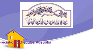 Tax Depreciation Schedules Australia especially for property valuation.