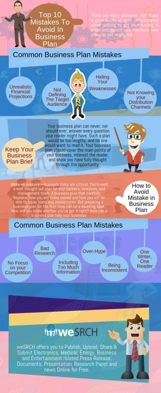 Top 10 Mistakes To Avoid In Business Plan