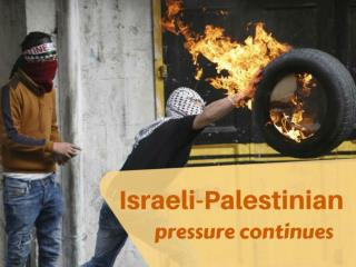 Israeli-Palestinian pressure continues