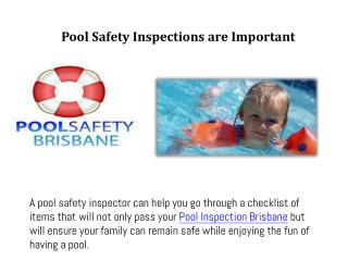 Pool safety inspections are important