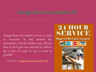 Garage Doors Greensboro NC - Installation