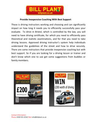 Provide Inexpensive Coaching With Best Support