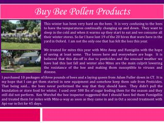 Buy Bee Pollen Products