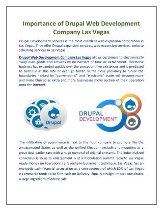 Importance of Drupal Web Development Company Las Vegas