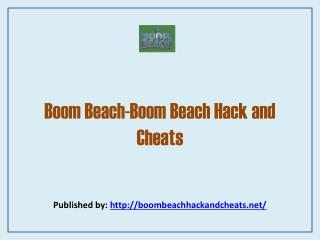 Boom Beach-Boom Beach Hack And Cheats