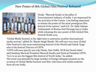 New Poster of 8th Global Film Festival Released