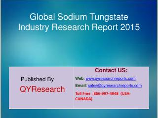 Global Sodium Tungstate Market 2015 Industry Outlook, Research, Insights, Shares, Growth, Analysis and Development