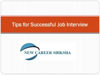 Tips For Successful Job Interview By New Career Shiksha
