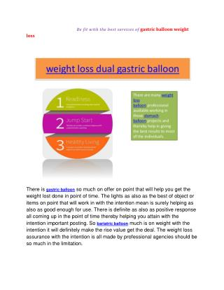 stomach dual gastric balloon weight loss