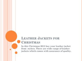 Leather Jackets for Christmas