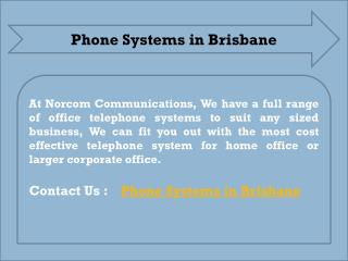 Phone Systems in Brisbane - Norcom Communications