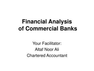 Financial Analysis  of Commercial Banks