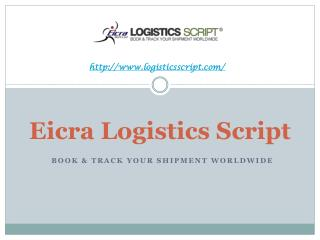 Eicra Logistics Script_CMS Driven web application for Freight Forwarding Service