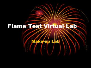 Flame Test Virtual Lab