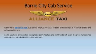 Barrie City Cab Service