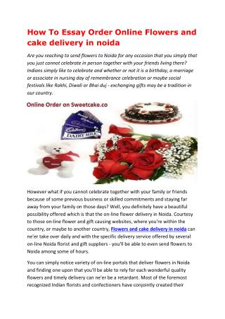 How To Essay Order Online Flowers and cake delivery in noida